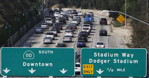 Dodgers Drive Up The 110 To Begin Freeway Series Against