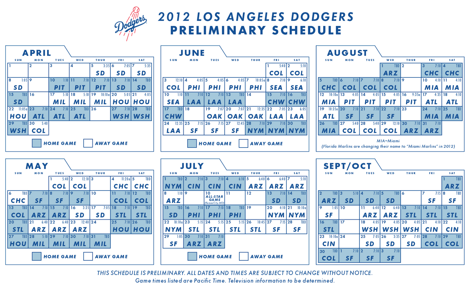 2018 dodgers schedule giveaways