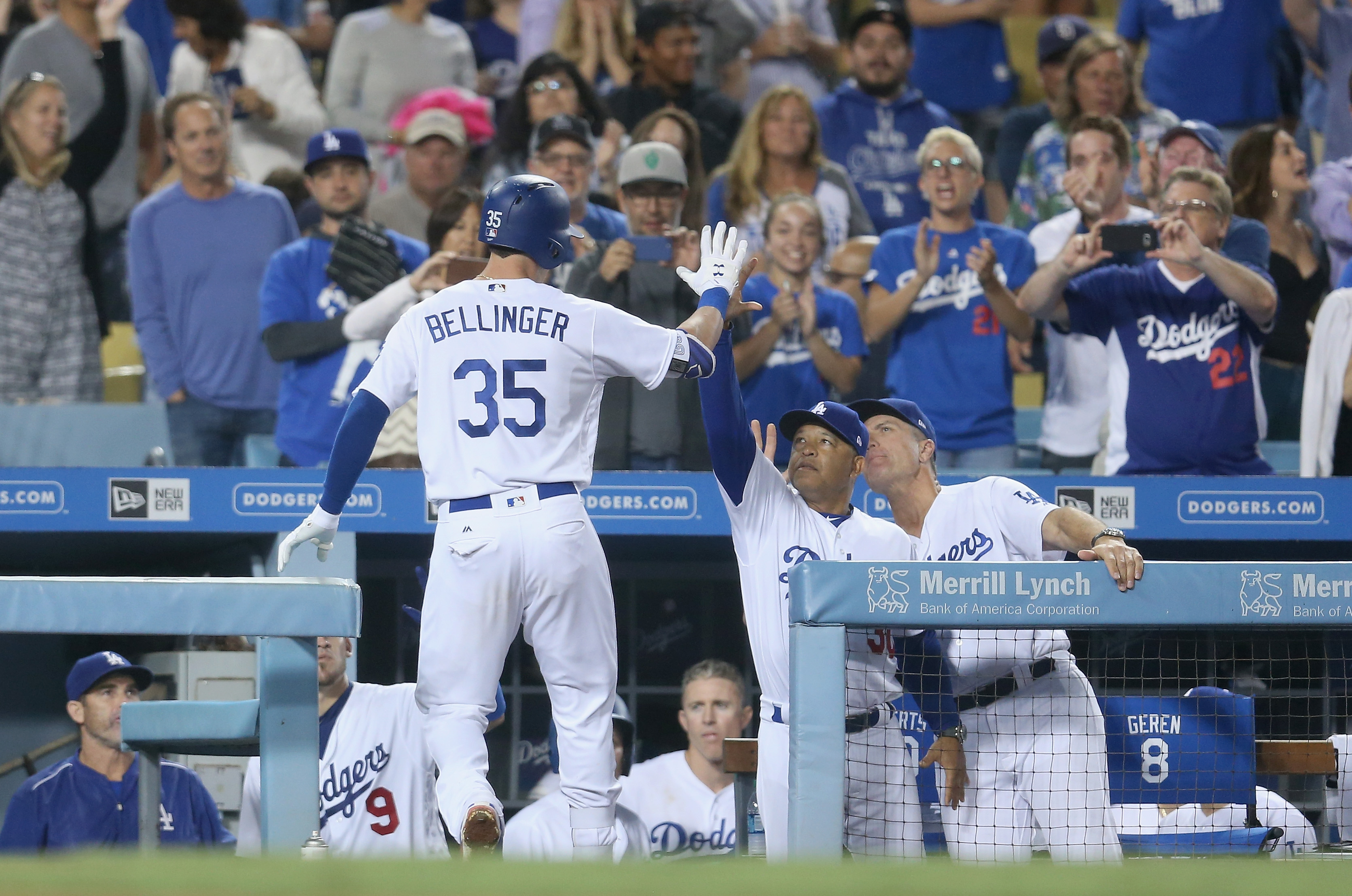 Dodgers rally, win Darvish's home debut